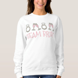 TEAM BRIDE Pink Champagne Diamond Ring Sweatshirt