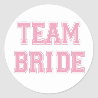 Team Bride Round Sticker