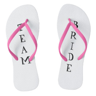 Team bride wedding day flip flops thongs