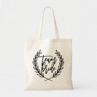 TEAM BRIDE wedding day tote bag for bridesmaids