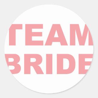 Team Bride Wedding Hen Party Round Sticker