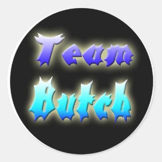 Team Butch Round Sticker! Classic Round Sticker