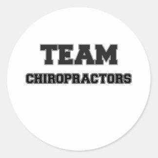Team Chiropractors Round Stickers