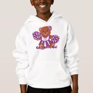 Team Colors Cheerleader Bear Hoodie