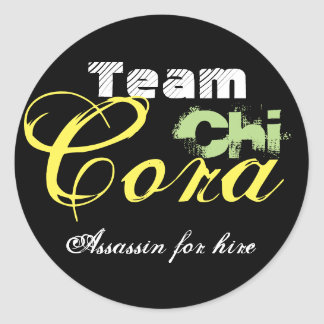 Team Cora: Assassin for Hire Classic Round Sticker