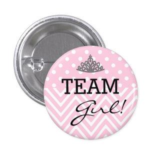 Team Girl-Baby Shower Pin