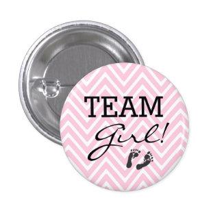 Team Girl-Baby Shower Pinback Button