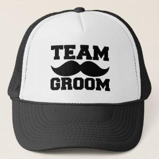 Team Groom Funny Groomsmen Mustache Trucker Hat