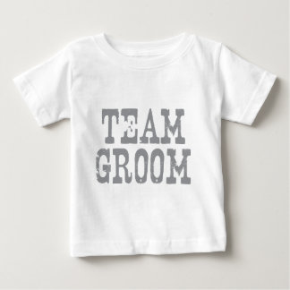 Team Groom Western Grey Baby T-Shirt