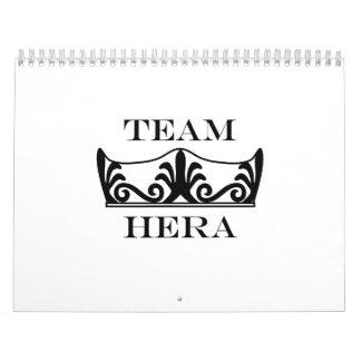 Team Hera-English Calendars