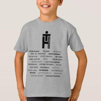 Team Human Inside Worldwide (27 languages!) T-Shirt
