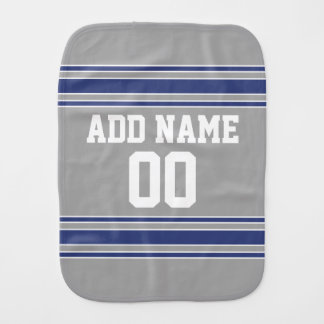 Team Jersey with Custom Name and Number Burp Cloth