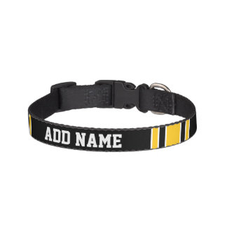 Team Jersey with Custom Name and Number Pet Collar