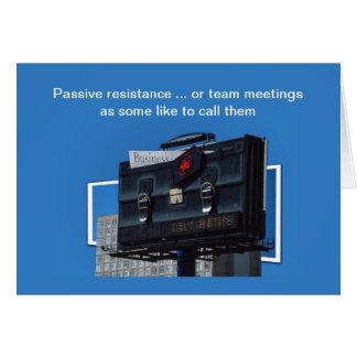 Team meetings card