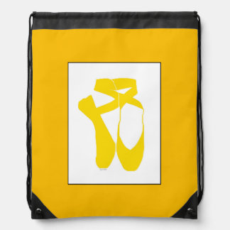 Team Pointe Ballet Goldenrod Drawstring Bag