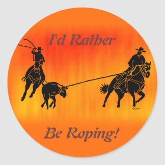 Team Ropers 202 Classic Round Sticker