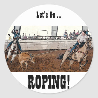Team Ropers Classic Round Sticker