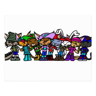 Team Sqool-Squad Postcard Wens Kaarten