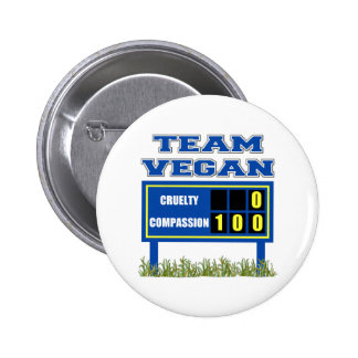 Team Vegan Button