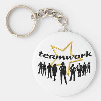 Team-work Basic Round Button Key Ring