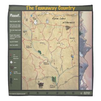 Teanaway Map Bandana