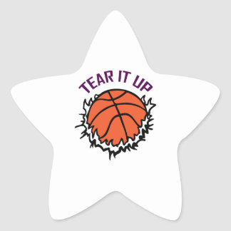 TEAR IT UP BASKETBALL STAR STICKERS