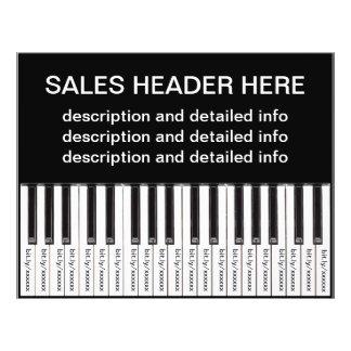 Tear-Off Advertising Flyer Personalized Keyboard