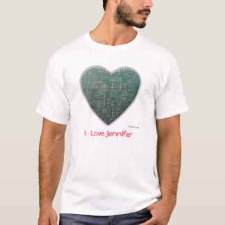 tech_heart, I  Love Jennifer T-Shirt