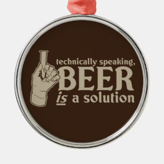 technically speaking, beer is a solution christmas ornament