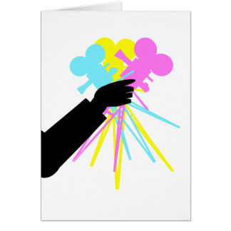 Technicolor Love Bouquet Greeting Card