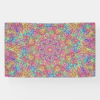 Techno Colors Pattern Banners, 4 sizes