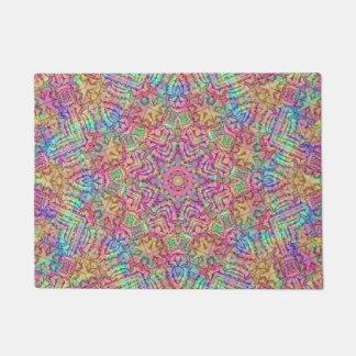 Techno Colors Pattern  Door Mats Doormat