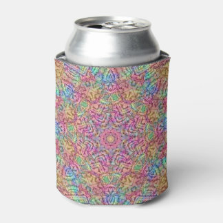 Techno Colors Pattern  Kaleidoscope  Can Cooler