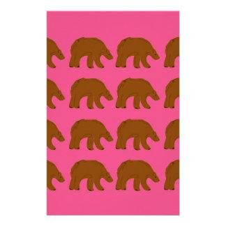 Teddies on pink stationery