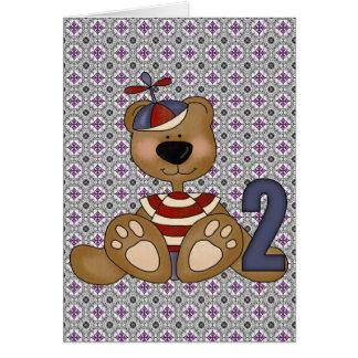 Teddy Bear 2nd Birthday Card