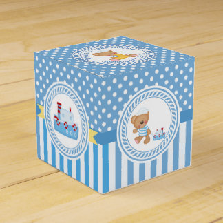 Teddy Bear and Tugboat Baby Shower Favour Box
