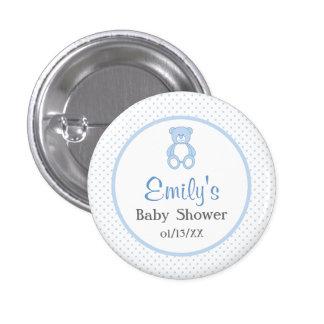 Teddy Bear Baby Shower Button - Boy