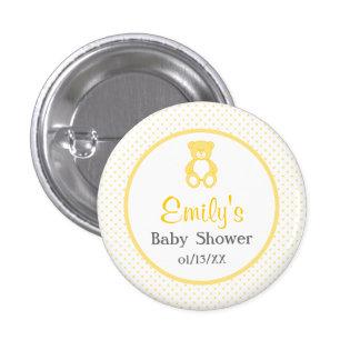 Teddy Bear Baby Shower Button - Unisex / Neutral