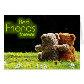 Teddy Bear Best Friends Greeting Card