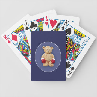 Teddy Bear Boxer Bicycle Playing Cards