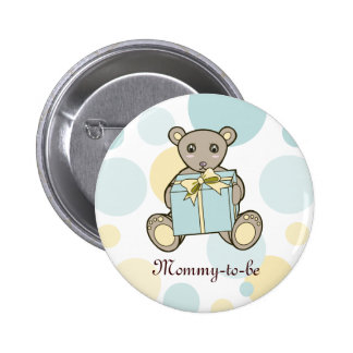 Teddy Bear Boy or Girl Baby Shower Mommy-to-be 6 Cm Round Badge