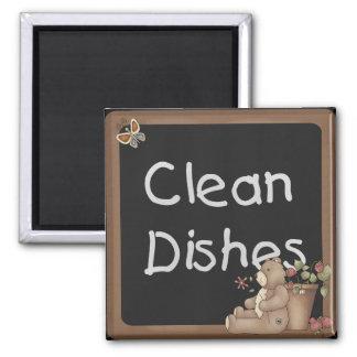 Teddy Bear Clean Dishes Dishwasher Magnet