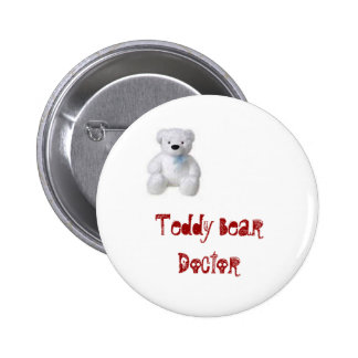 Teddy Bear Doctor 6 Cm Round Badge