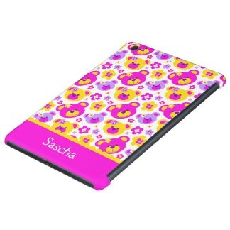 Teddy bear flowers name pink yellow ipad mini case