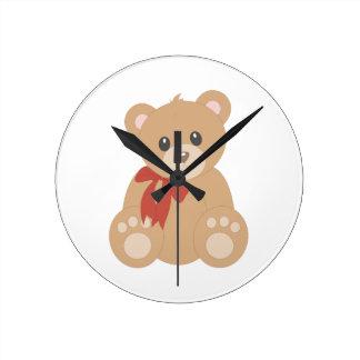 """Teddy Bear"" for Boys Wallclock"
