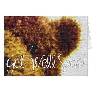 Teddy Bear, Get Well Soon! Card