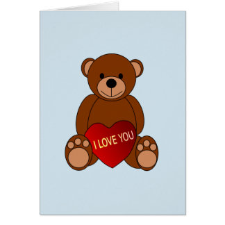 Teddy Bear Gifts Valentine's Day Greeting Card