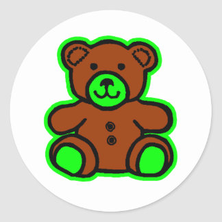 Teddy Bear Green Brown The MUSEUM Zazzle Gifts Stickers