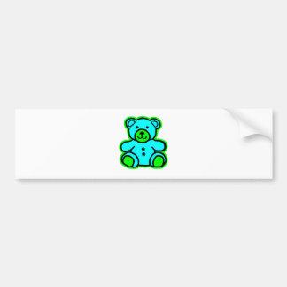 Teddy Bear Green Cyan The MUSEUM Zazzle Gifts Bumper Sticker