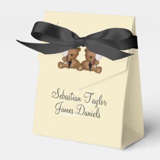 Teddy Bear Grooms Wedding Favour Box